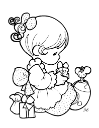 printable 13 precious moments christmas coloring pages 7348