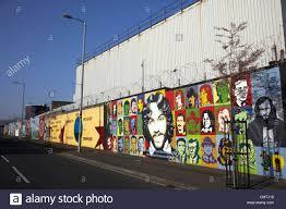 irish republican and hunger strike wall murals on northumberland stock photo irish republican and hunger strike wall murals on northumberland street off lower falls road belfast northern ireland uk