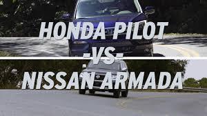 nissan armada vs infiniti qx80 honda pilot vs nissan armada autonation youtube