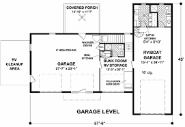 garage floorplans rv garage with observation deck 20083ga architectural designs
