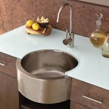 Inch Fiesta Round Brushed Nickel Bar  Prep Sink Native Trails - Round sinks kitchen