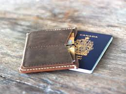 Distressed leather passport wallet gifts for men