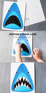 find sharky u0027s teeth printable shark game u2014 all for the boys