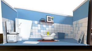 cartoon living roomcartoon living room and bathroom set
