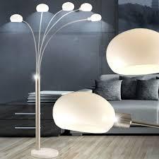 Lampen Im Wohnzimmer Esszimmer Elegante Led Stehleuchte In Nickel Matt 5 Flammig Lampen U0026 Möbel