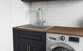 how to install base cabinets in laundry room ruvati topmount laundry 22 x 22 x 12 utility sink 16 stainless steel rvu6022
