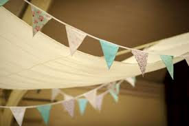 bunting and diy ceiling hangings drapes weddingbee photo gallery