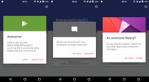 dialog android github javiersantos materialstyleddialogs a library that shows