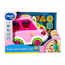 pink toddler car vtech sort u0026 learn car kmart