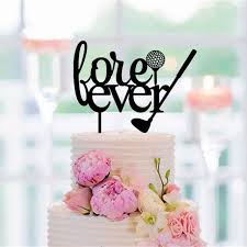 golf wedding cake topper fore ever letter silhouette cake toppers