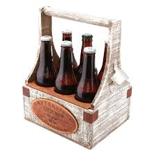 house warming presents monogrammed personalized rustic wooden beer tote personalize beer