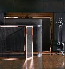 modernist curved fireplace screen rejuvenation