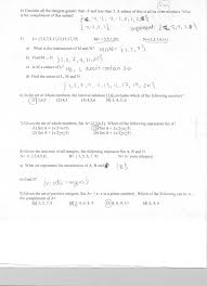Sets Union Intersection Complement Worksheets Mr Napoli U0027s Algebra Aim 1 How Do We Use Set Notation
