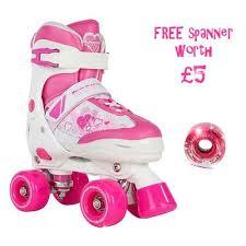 roller skates with flashing lights pulse adjustable kids quad skates with pink light up wheels free