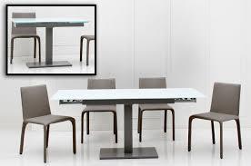Telescoping Table Dining Room Zenith 1 1 Table Idea Zenith Modern White Extendable