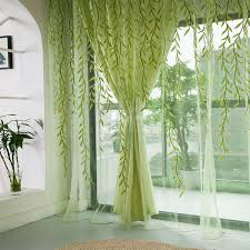 Curtains Home Decor Aliexpress Com Buy 1pcs Green Willow Sheer Curtain For Living
