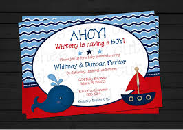 Unique Baby Shower Invitation Cards Nautical Theme Baby Shower Invitations Kawaiitheo Com