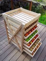 Wood Storage Rack Plans by Ana White Food Storage Shelf Diy Projects