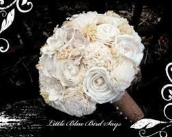 wedding flowers keepsake wood flower bouquet etsy