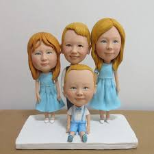 four people cake topper real image show 2016 new arrive hand made