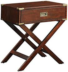 Accent Table With Drawer Amazon Com Inspire Q 1 Drawer Accent Table With X Leg Home U0026 Kitchen