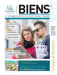 chambre des notaires 22 magazine biens des notaires de l ouest n 57 actualités côtes d