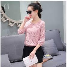 blouse wanita wanita terbaru brokat warna pink rp 220rb