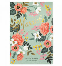 mint birch monarch notepad by rifle paper co made in usa
