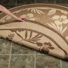 Round Seagrass Rugs by Flooring Round Brown With Floral Design Seagrass Rug For