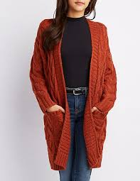 how does it take to knit a sweater open front cable knit cardigan russe