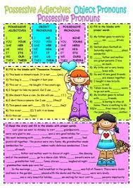 574 free esl pronouns worksheets