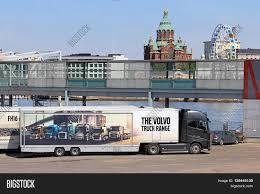 2016 volvo semi truck helsinki finland may 24 2016 image u0026 photo bigstock