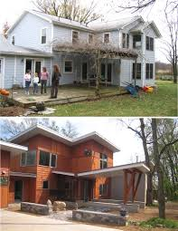 a contemporary renovation for a virginia farmhouse contemporist despite its pedestrian character and inadequate size the house did have one thing going for it it sat on the right place on its site within a ring of