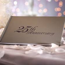 anniversary guest book 25th anniversary guest book anniversary 25th and 50th party