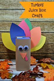Easy Turkey Crafts For Kids - turkey juice box craft for thanksgiving jinxy kids