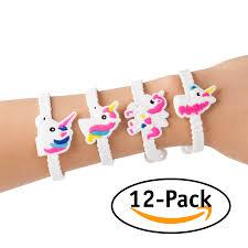 party favor bracelets 12 pack assorted unicorn party favor bracelets hello squishy