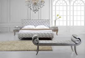 Modern Beds Monte Carlowhite Leatherette Bed