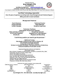 Technology Resume Template Brilliant Ideas Of Audio Visual Technician Resume Sample Also Free