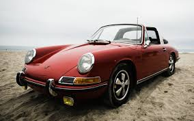 porsche dark red old porsche on the beach wallpapers and images wallpapers