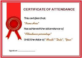 course attendance certificate template 10 editable word
