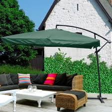9x9 u0027 square aluminum offset umbrella patio outdoor shade w cross
