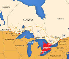 map of united states canada ontario border map tbwg