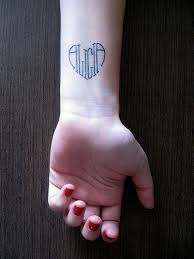 design with name idea for wrist for