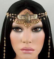 Nefertiti Halloween Costume Nefertiti Circlet Brass Scarab Beetle Egyptian Castalynstudios
