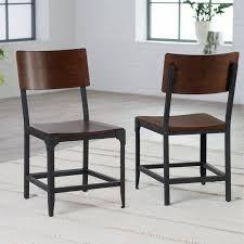 metal kitchen furniture belham living trenton wood and metal dining chairs set of 2