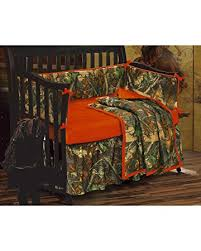 Camouflage Crib Bedding Sets Hiend Accents Realtree Oak Camo Crib Set Home Kitchen