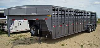 cattle trailer lighted sign titan trailers steel horse livestock and flatbed trailers