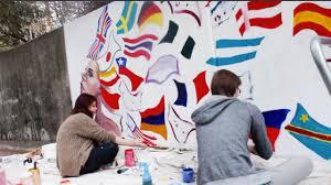 Mural Artist by Paint Process Mural Art In Santa Cruz Youtube