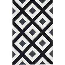 rugs bella diamonds black u0026 white area rug by wayfair rugs for