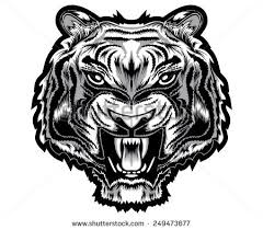 tiger tribal decoration tattoo tshirt design stock vector